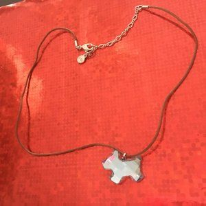 Swarovski Blue Crystal Scottie Dog Necklace  - 120